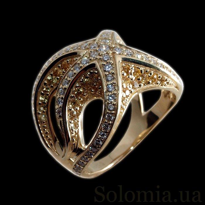 золотые комплекты кольцо и серьги
